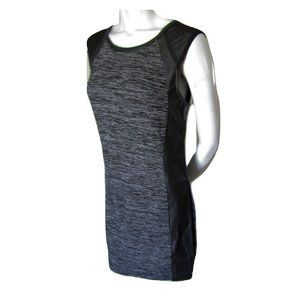 Foxy Couture Knit Dress with Faux Leather & Mesh L